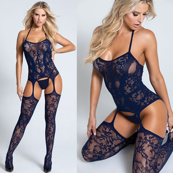 Plus Size Sexy Lingerie For Women Erotic Teddy Babydoll Bodysuit Fishnet Stockings Erotic Dress For Sex Lenceria Costumes 1