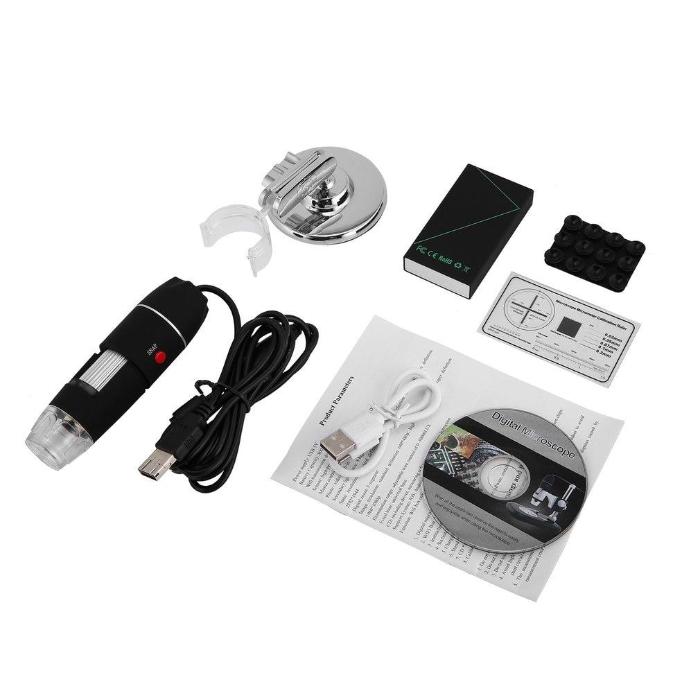 Microscopio Digital WiFi 8 LED dos en uno USB endoscopio Cámara Microscopio 500X-1600X estéreo electrónico lupa Plug and Play