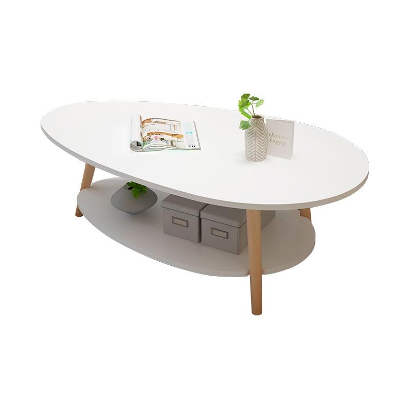 Nordic Double-decked Tea Table Small Family Modern Living Room Table Simple Tea Table Creative Sofa Edge A Few Small Round Table