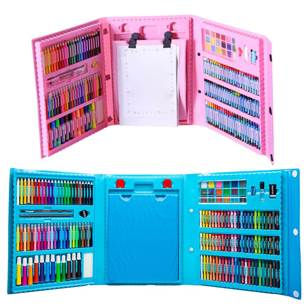 Children Kids Colored Pencil Artist Kit Set Painting Crayon Marker Pen Brush Drawing Tools Set Kindergarten Supplies