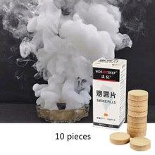 Halloween Photography Aid Decoration Tool Props 10Pcs/Box White Smoke Cake Pills new