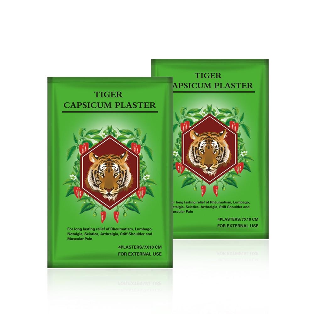 10 мешков = 40 шт., хорошее качество, эффективное избавление от боли, тигровые лечебные пластыри, пластыри капельки, снимает боль в спине