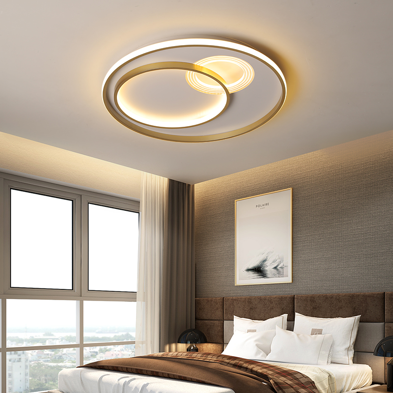 Surface Mounted living Room study room bedroom modern led chandelier golden or Gray parlor foyer surface mounted chandelier