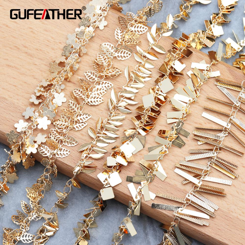 GUFEATHER C68,jewelry Accessories,diy Chain,18k Gold Plated,jewelry Findings,charms,jewelry Making,diy Chain Necklace,1m/lot