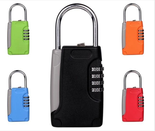 Wholesale Mini Key Safe Box Hidden Organizer 4-Digital Password Lock House Villa Car Caravan Spare Keys Storage Locks Box Free S