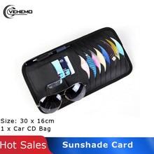 Vehemo Sun Visor Leather Auto Car Sunshade Sun Visor CD Card