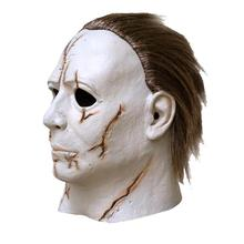 Halloween Mask Little White Face Horror Movie Cosplay Adult Latex Full Face Helmet Halloween Party Scary Ghost Mask Props цена 2017