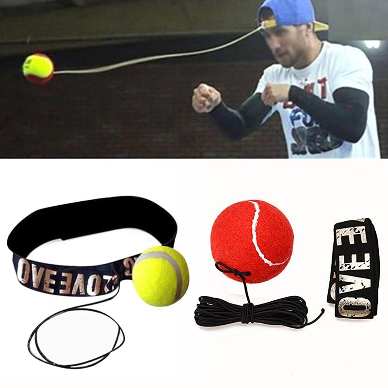 Boxing  Ball Reflex Reaction Punching Balls & Speed Balls With Headband MMA Muay Thai Fight Ball Training Hands Eye Coordination