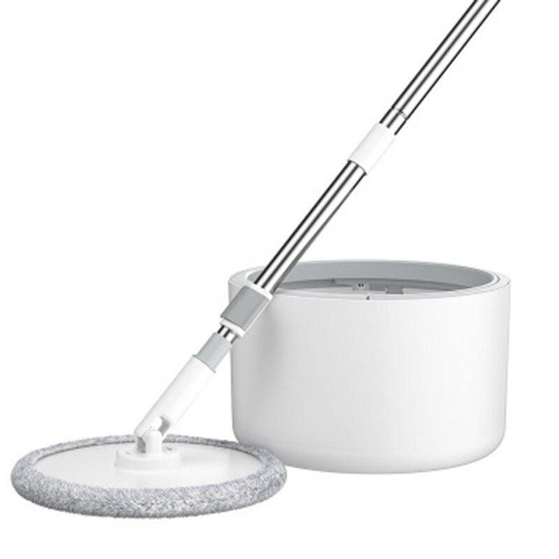 Волшебная швабра с микрофиброй с круглым ведром, регулируемая ручка, бытовая уборочная плитка, очиститель, картонная система, 360 чистящих ин