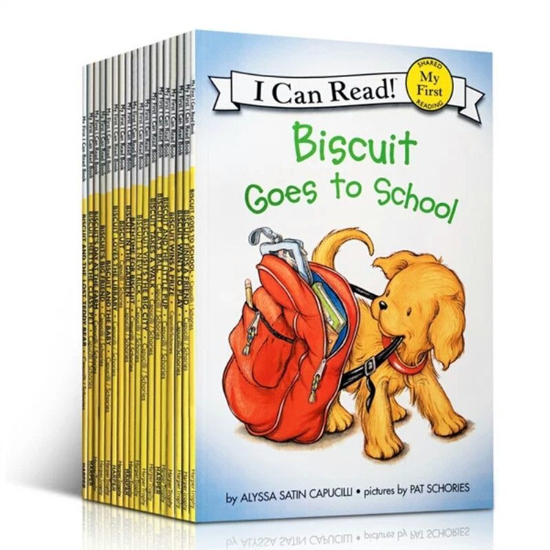 22 Books/Set Biscuit Series English Picture Books Kids I Can Read Story Reading Book Educaction For Children Montessori