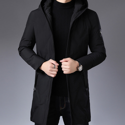 Winter Qualität Lose Heizung Jacke Schwarz Freizeit Männer der Heizung Jacke Mode Weiße Ente Unten Kleid männer Stil JG-Y89129