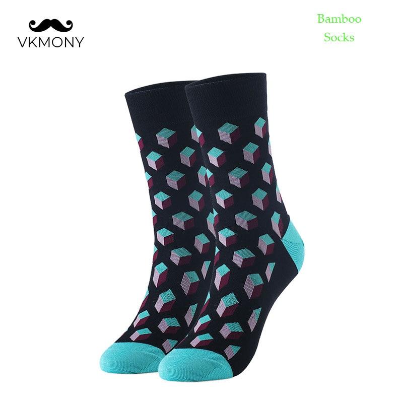 Мужские бамбуковые носки, стереоскопический узор, большие размеры, мужские носки, брендовые носки, британский Размер 7-11, европейские