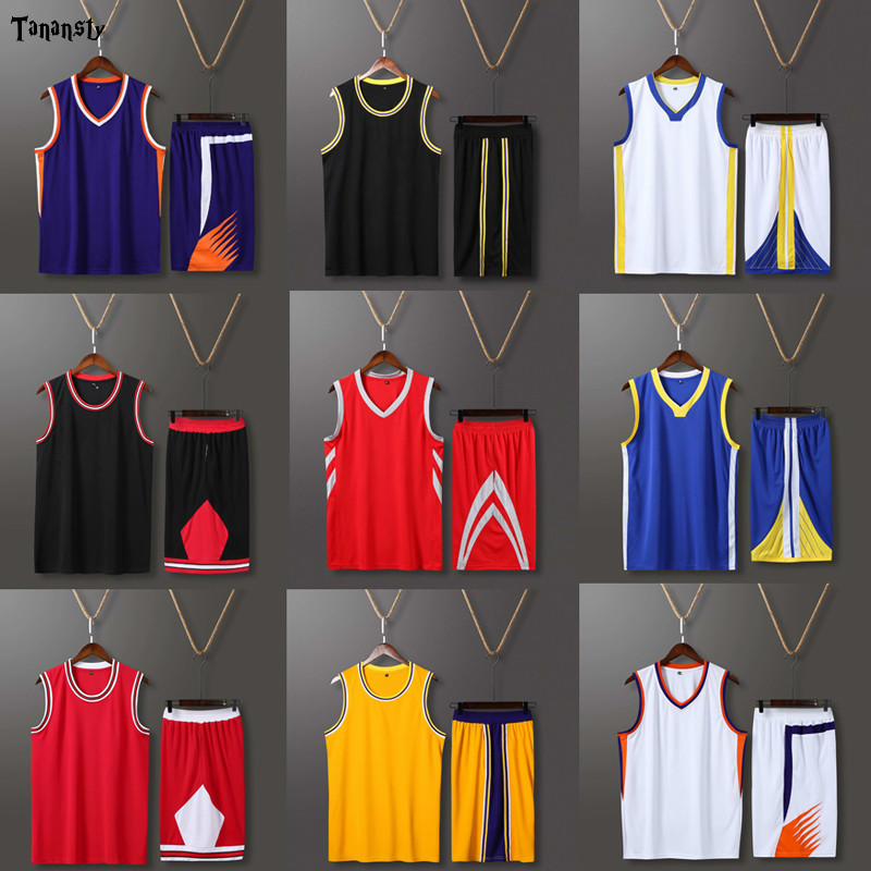 Custom Basketball-Uniforms-Sets throwback <font><b>Men</b></font> College Basketball Jerseys <font><b>suits</b></font> <font><b>shorts</b></font> Professional Basketball jersey 2020 image