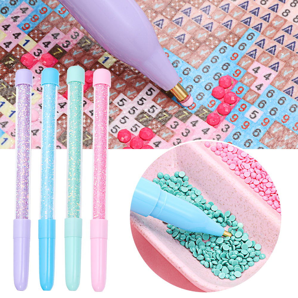 Crystal Diamond Painting Tool Point Drill Pen Embroidery Cross Stitch DIY Kits