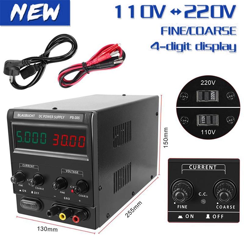 4-Digital DC Lab Switching Power Supply 30V 10A 60V 5A Laboratory Adjustable Power Source 120V Voltage Regulator Digital Source