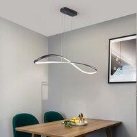 NEO Gleam Modern led pendant lights for dining room kitchen Room Home Deco Pendant Lamp 90 260V Matte Black/White Finished