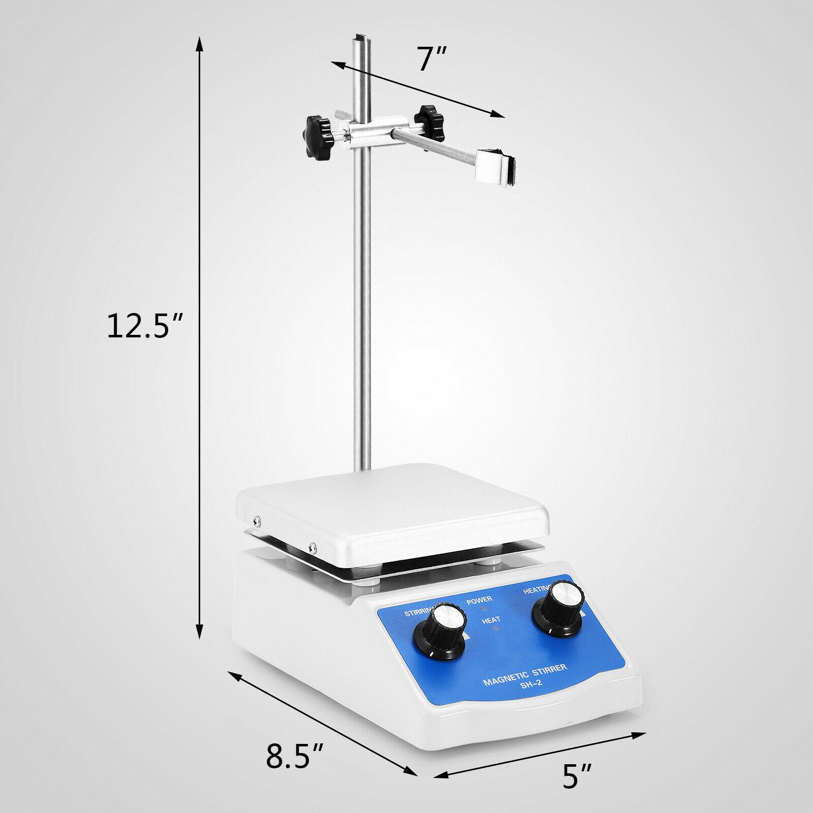 Sh 2 Магнитная мешалка с горячей плитой с двойным управлением нагревательный держатель для перемешивания лаборатория - 2