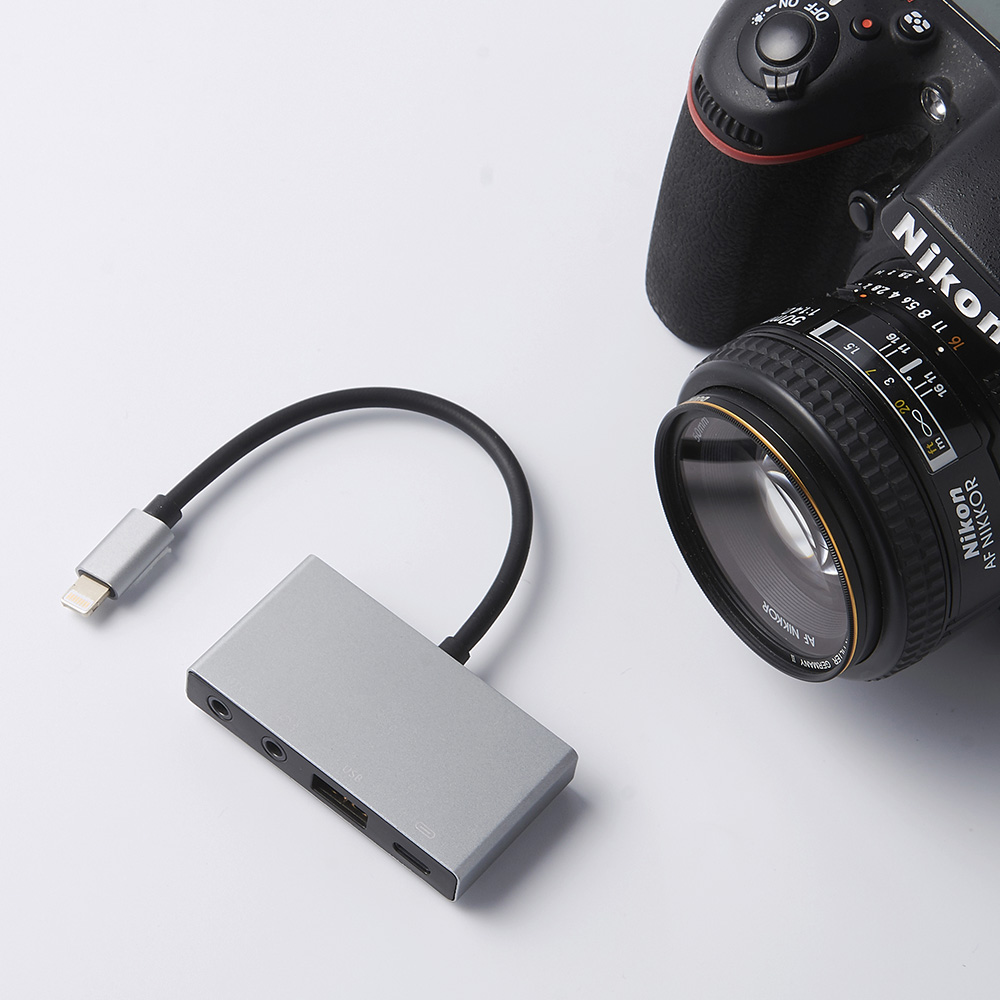 MeloAudio Lightning to USB OTG Audio Adapter, Male to Female, with Broadcast Charge Aux Jack-Sync Function, No APP Needed 5