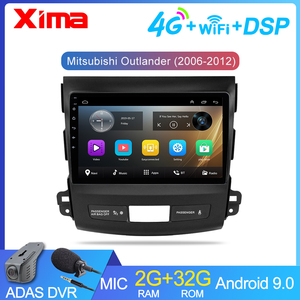 XIMA 2 Din Android 9.0 Multimedia Player For Mitsubishi Outlander XL 2005 2006 2007 - 2013 2014 Car radio Auto Stereo Android(China)