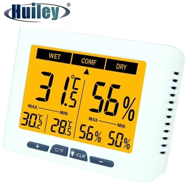 Backlight Calibrable Thermometer Hygrometer Digital Home Office Hospital Factory Greenhouse Living Room Temperature Humidity