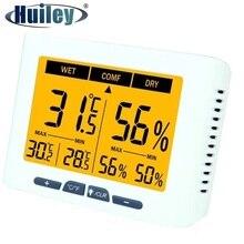 תאורה אחורית Calibrable מדחום מדדי לחות דיגיטלי בית משרד בית חולים מפעל חממה סלון טמפרטורת לחות