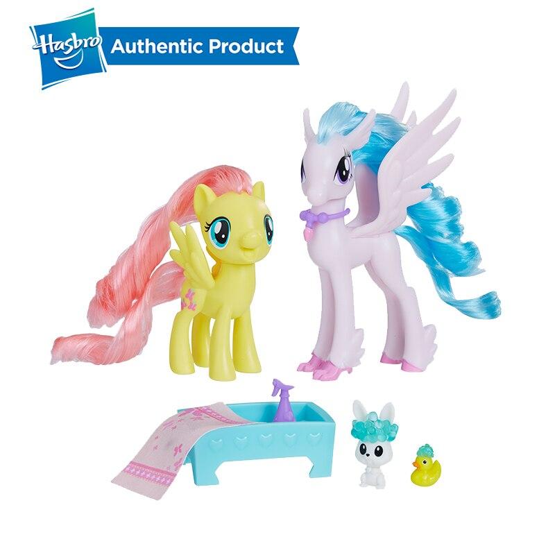 Hasbro My Little Pony Fluttershy & Silverstream Kindness Lesson Dash & Sandbar Teamwork Action Figure Collection Model For Girl