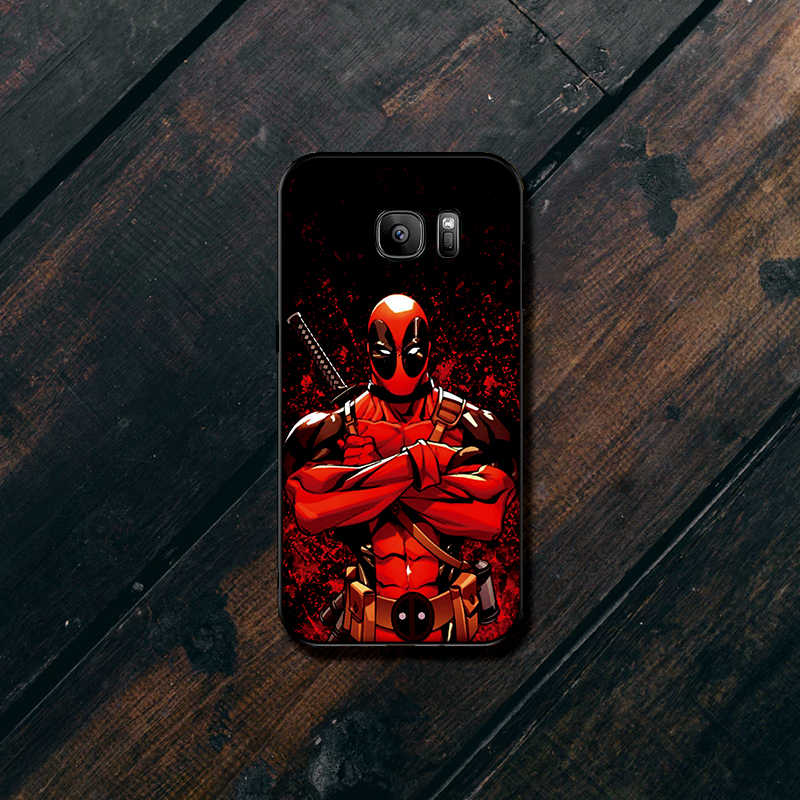 Deadpool حقيبة لهاتف سامسونج S6 S7 حافة S8 s9 plus لينة غطاء سيليكون S10 ملاحظة 8 9 M10 M20 M30 كوكه فوندا