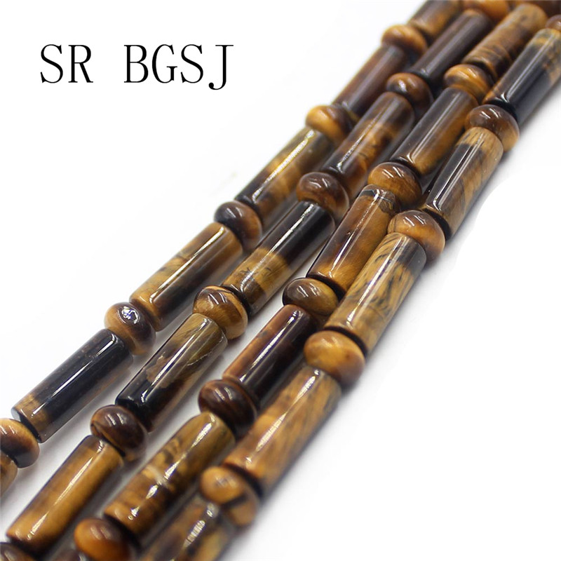 Бесплатная доставка 4x6 мм 5x14 мм колонна Rondelle трубка желтый тигровый глаз натуральное ювелирное изделие из драгоценных камней разделитель DIY...