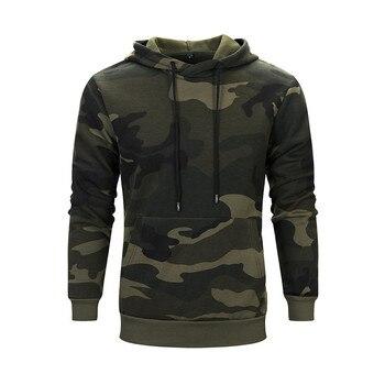 Men's Hoodies Autumn Winter Camouflage Long Sleeve Leisure Men Hoodie Sweatshirt Blouse Loose Print Hooded Sweatshirt 1