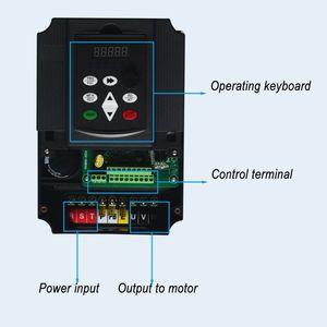 Image 4 - WK310 boost convertitore di frequenza monofase 220V a Tre fase 380V frequenza variabile inverter7.5KW/11KW per il motore