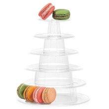 6-tiers macaron expositor cupcake torre cremalheira bolo suporte bandeja de pvc para o bolo de aniversário do casamento ferramentas de decoração bakeware