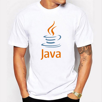 Summer Funny Print T Shirt Java Logo Coffee Casual Fashion Short Sleeve Round Neck Workwear Streetwear Harajuku Men Clothing image
