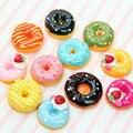 10 Teile/satz Nette Mini Candy Donut Puppe Lebensmittel Täuschen Spielen Puppenhaus Zubehör Miniatur Hause Handwerk Kuchen Decor Kinder Küche Spielzeug
