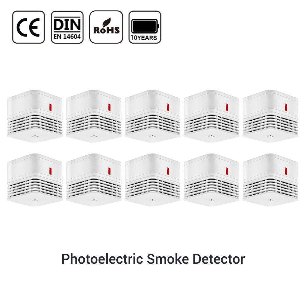 CPVan Smoke Detector CE EN14604 Sensor Detector Rookmelder 10 Jaar Fire Detector 85dB Loud Alarm Smoke Photoelectric Sensor