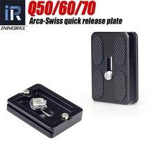INNOREL Placa de liberación rápida Universal Q50/Q60/Q70, Compatible con Arca Swiss, accesorios de cámara DSLR para rótula de bola de trípode panorámica