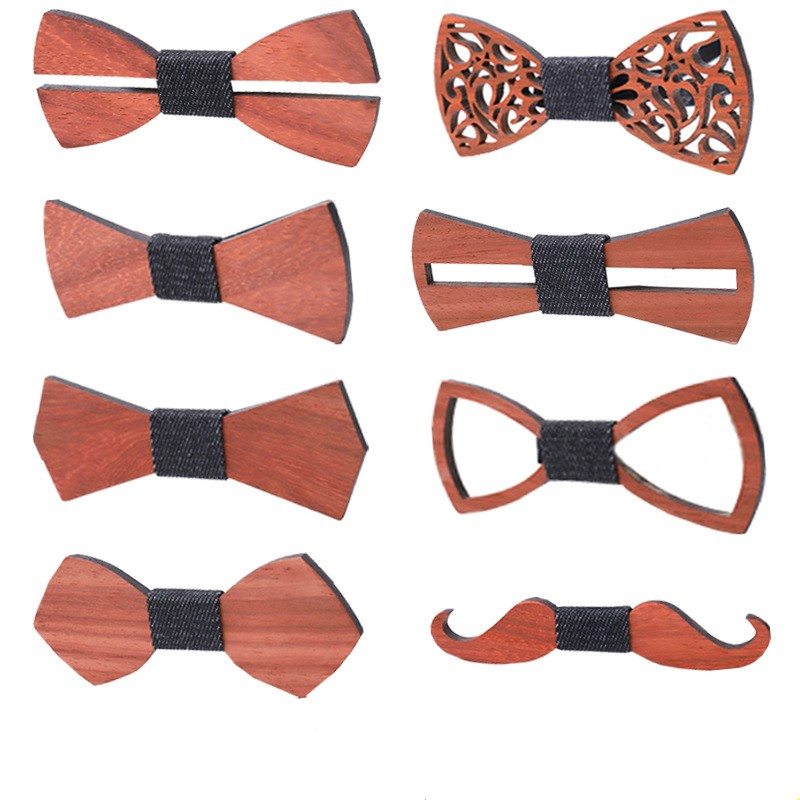 Wooden Dinosaure Bow Tie for Boys Neck Wear Bowknot Bow Ties