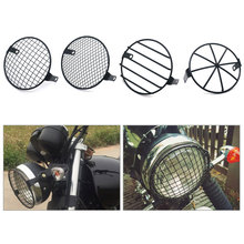 MAHAQI 16cm Motorcycle Side Mount Headlight Round Grill Cover Mask Led Headlights Mesh for motorcycles Cruiser Chopper