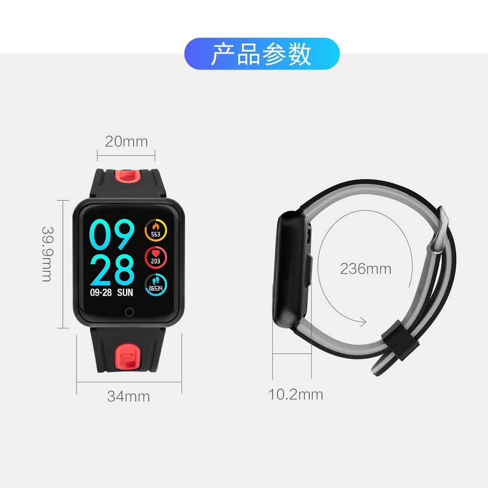 P68 Women Smart Watch Men Sleep Sport Tracker IP68 Waterproof Blood Pressure Oxygen Heart Rate Monitor Smartwatch For Xiaomi IOS in Smart Watches from Consumer Electronics