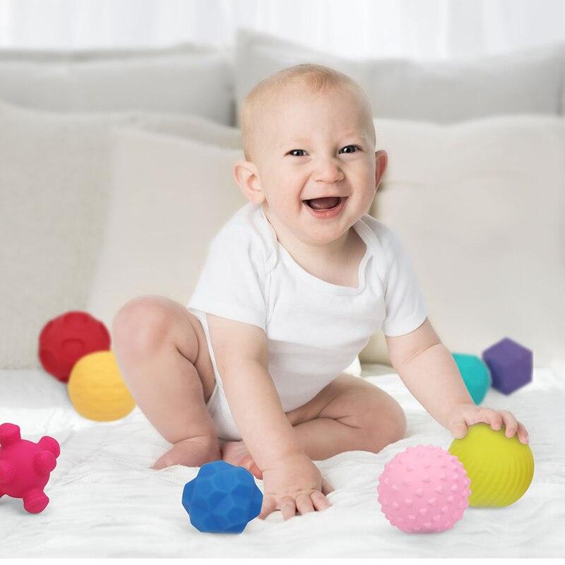 Jouets bébé 0 12 mois caoutchouc texturé toucher balle main sensorielle enfants balles bébé formation et Massage balle souple développement jouet