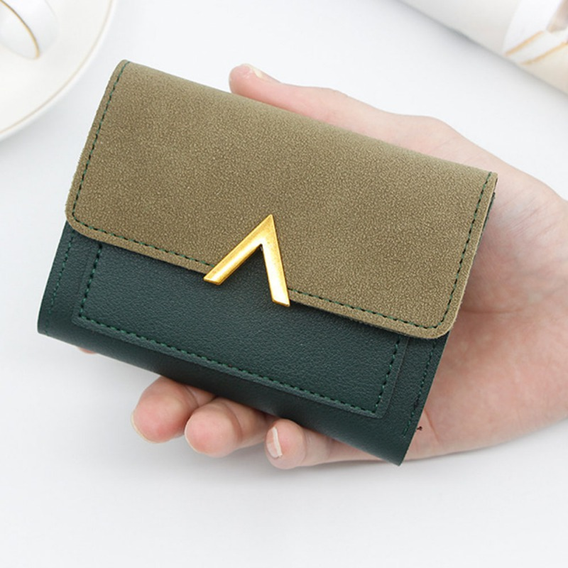 Women Short Wallets Pu Leather Female Hasp Solid Multi-Cards Holder Purse Fashion Small Wallet Purse Handbag