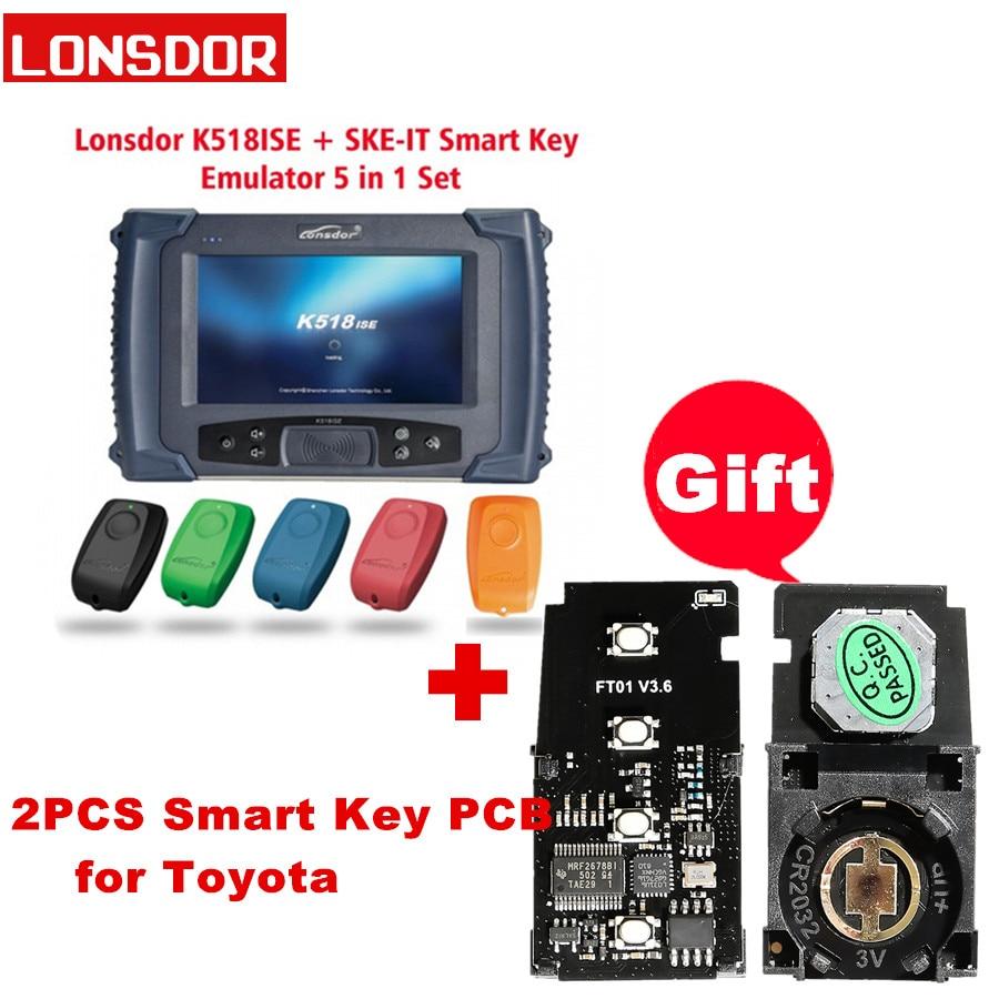 Lonsdor K518ISE Key Programmer For All Makes With Odometer Adjustment Supports For V-W 4/5th For BMW FEM/BDC Lonsdor K518 K518S