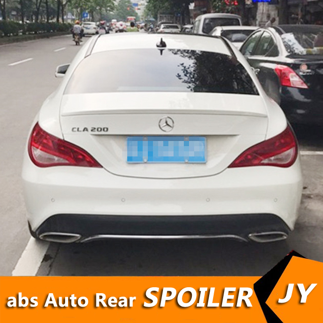 For Mercedes Benz W117 <font><b>Spoiler</b></font> 2015-2018 CLA <font><b>CLA200</b></font> 220 260 <font><b>spoiler</b></font> High Quality Car Rear Wing Color Rear <font><b>Spoiler</b></font> image