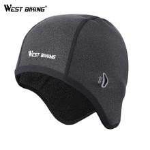 WEST BIKING cappellini da Ciclismo cappelli in pile caldi invernali cappellino da bicicletta termico copricapo Gorra Ciclismo cappellini da sci da corsa antivento