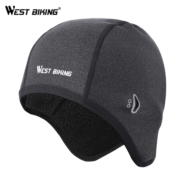 WEST BIKING Cycling Caps Winter Warm Fleece Hats Thermal Bicycle Cap Headwear Gorra Ciclismo Windproof Running Skiing Bike Caps