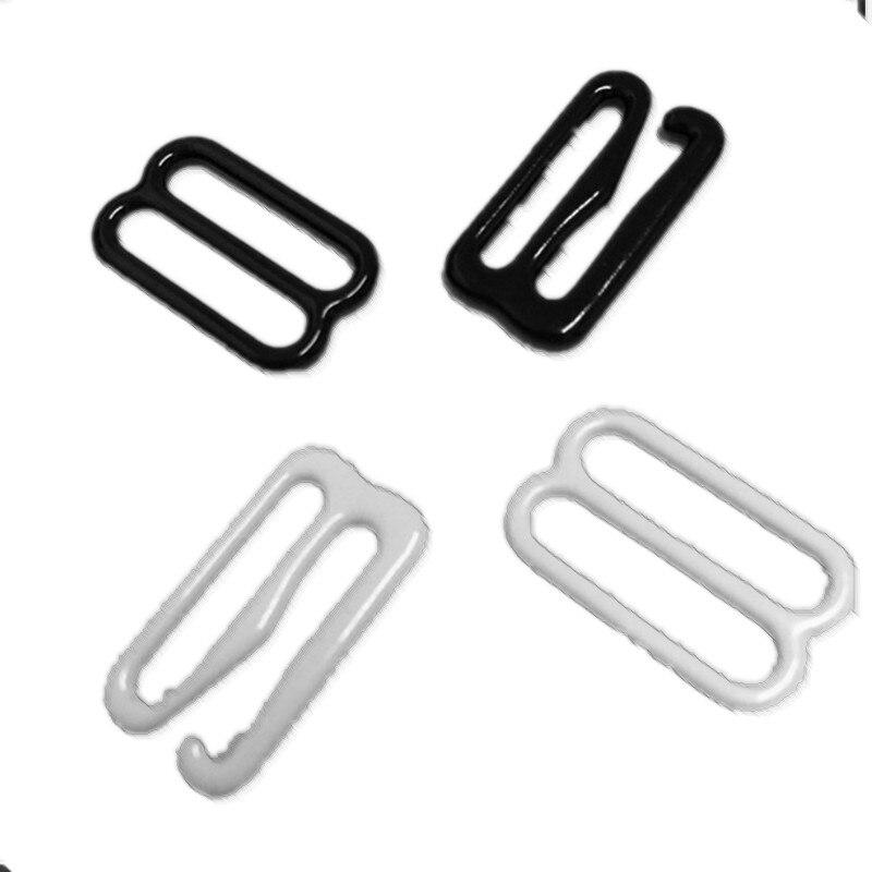 50 Sets Bow Tie Hardware Cravat Clip Electroplated Metal Adjustable Hook Fastener for Necktie Strap Black Color