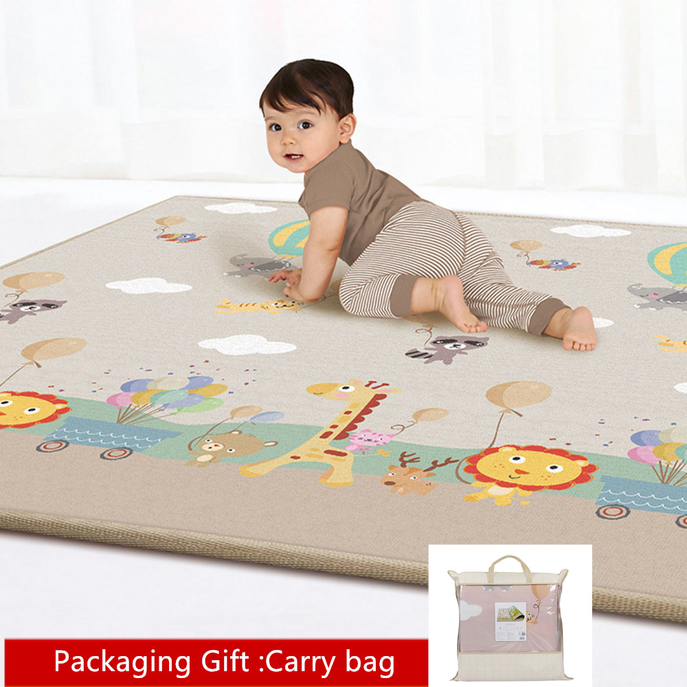 180*200CM Baby Crawling Mat Thickening Environmental Protection Mat Odorless Moisture-proof Game Blanket Shatter-resistant Pad