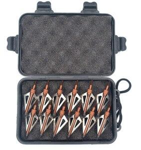 Image 5 - 12 pièces acier inoxydable chasse pointes de flèche têtes de flèche Points tête large 100 têtes de Grain + étui