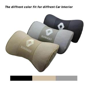 Image 3 - Car Neck Pillow Genuine Leather Seat Head rest Pillows Cushion For Renault BMW Toyota Nissan Volkswagen Mazda Hyundai Honda Kia