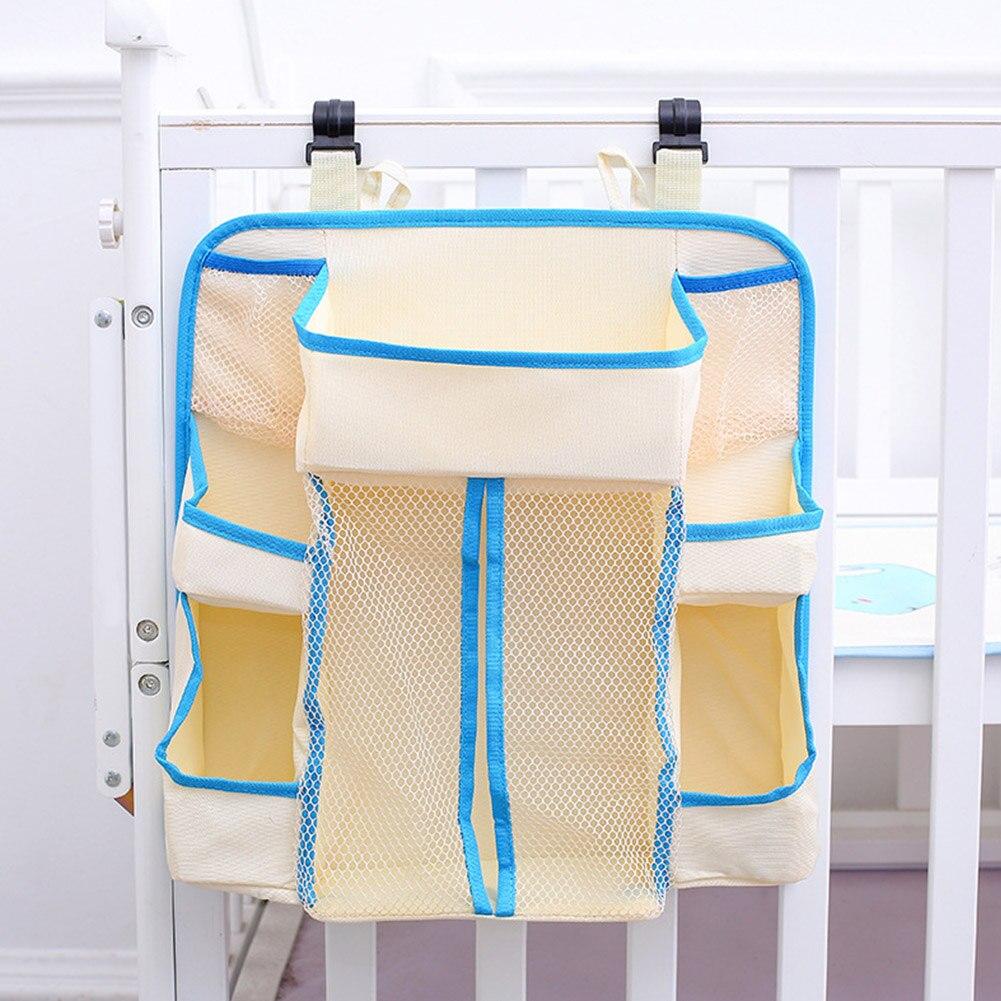 Multi Pockets Bedding Hanging Baby Crib Storage Bag Heavy Duty Nursery Holder Durable Waterproof Diapers Organizer Portable