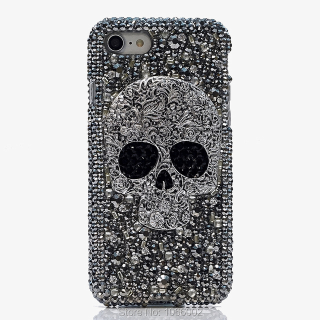 Cool Metal 3D Skull Skeleton Punk Bling Cases for Samsung galaxy S9 S10 S20 Plus S10e Note 10 Lite 10+ 20 Ultra 9 Crystal Fundas